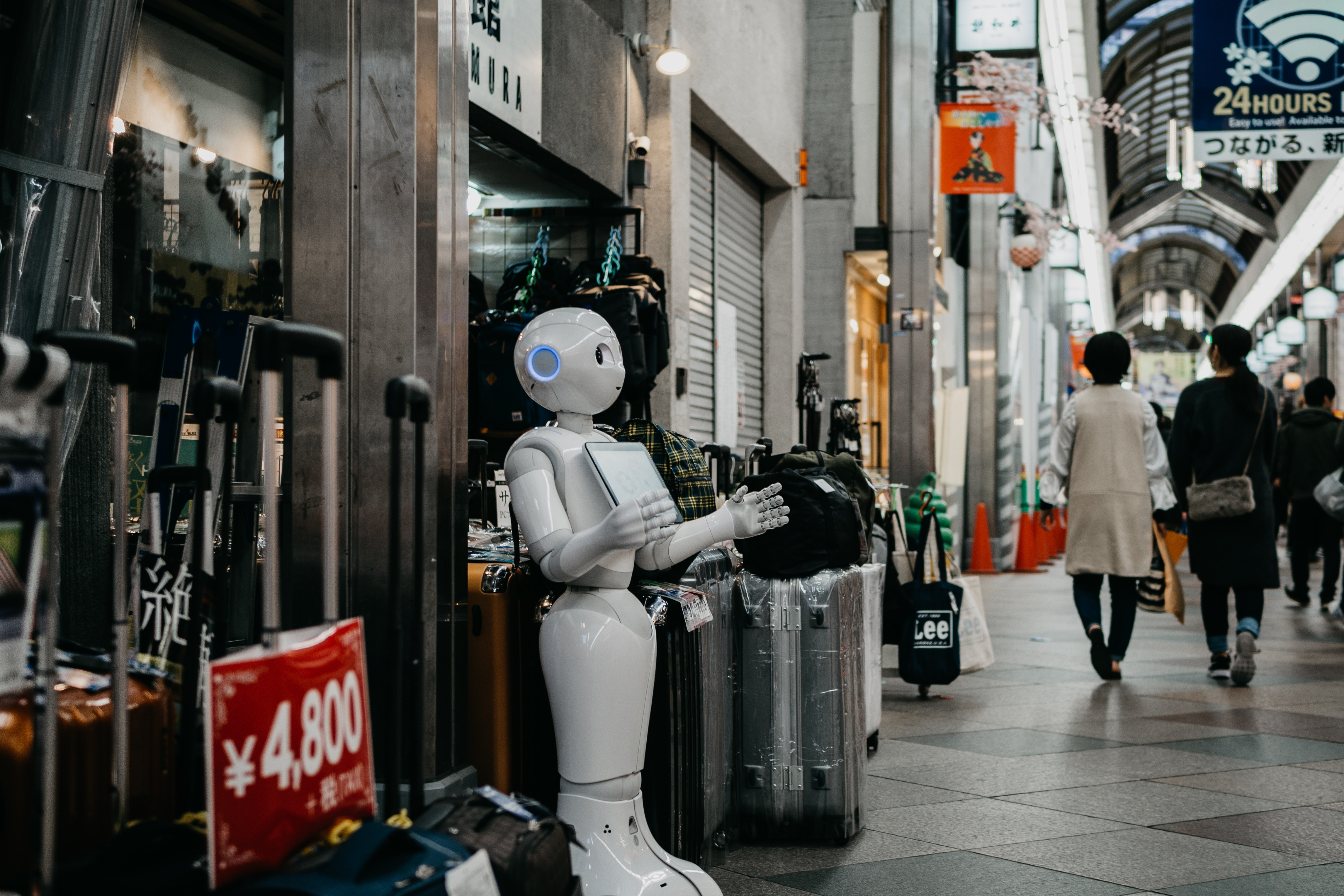 Company using a robot to automate their business
